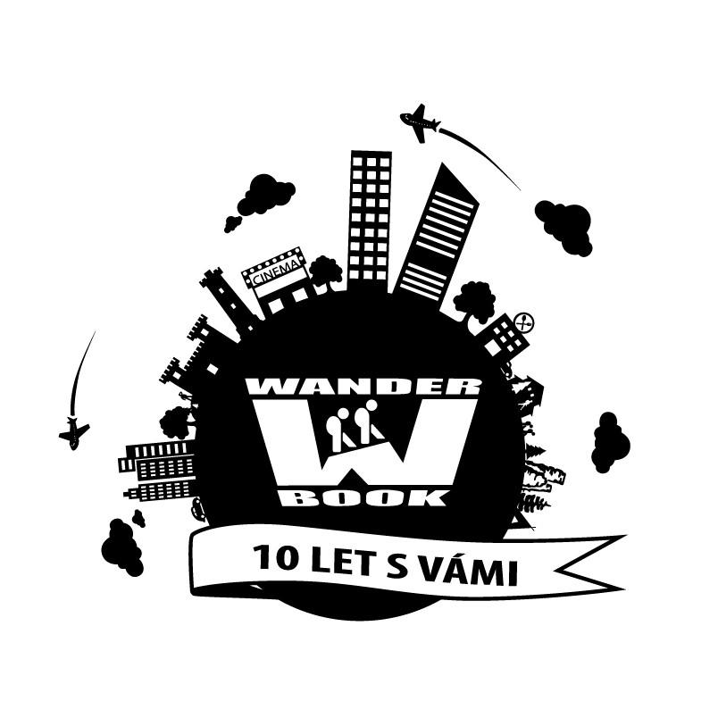 Wander Book logo 10 let - černé