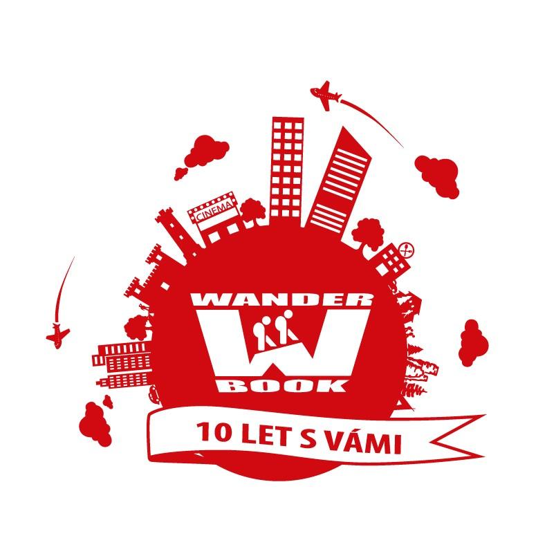 Wander Book logo 10 let - červené