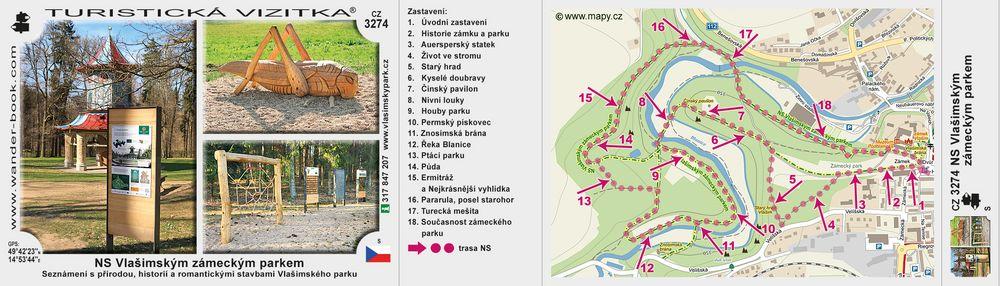 NS Vlašimským zámeckým parkem
