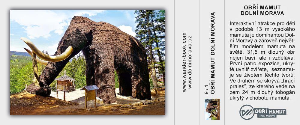 Obří mamut v Mamutíkovo vodním parku