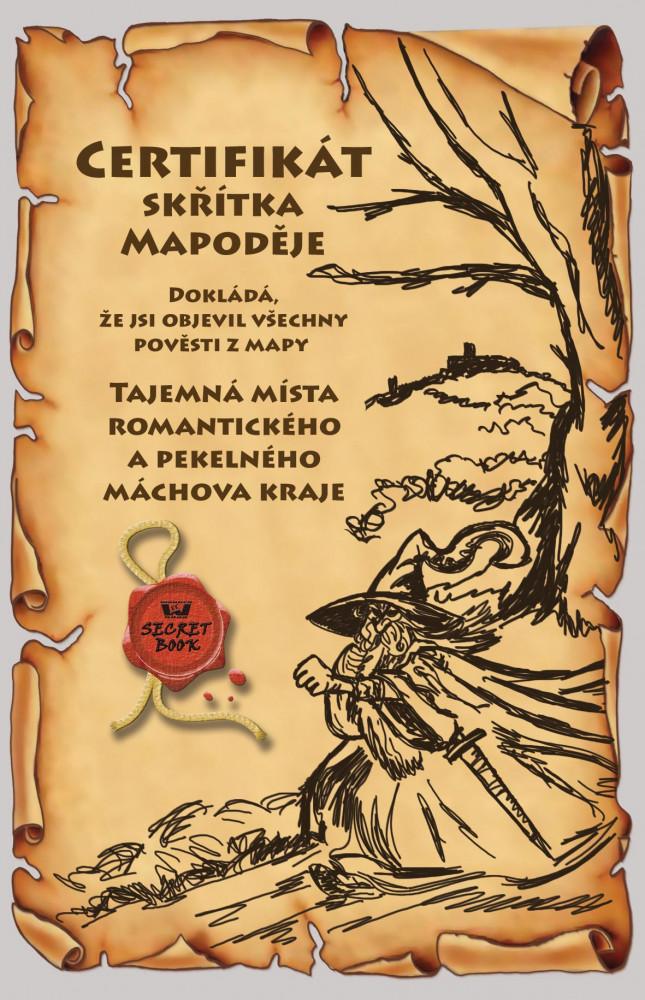 Certifikát skřítka Mapoděje - Máchův kraj