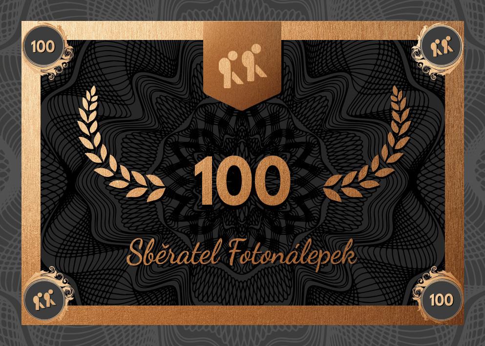 Sběratel – Fotonálepky 100