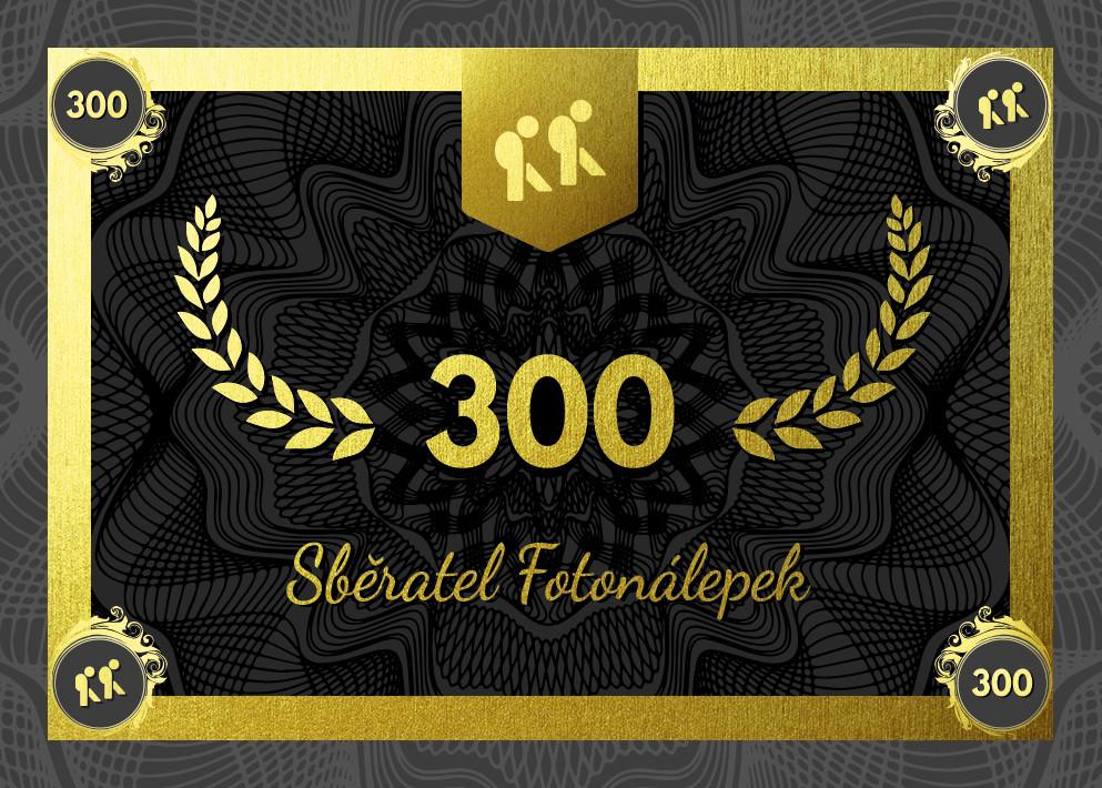 Sběratel – Fotonálepky 300