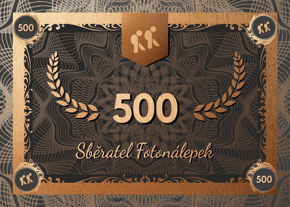 Sběratel – Fotonálepky 500
