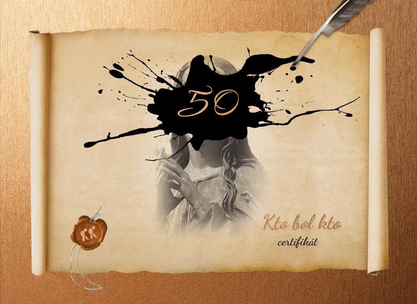 Certifikát - Kto bol kto 50