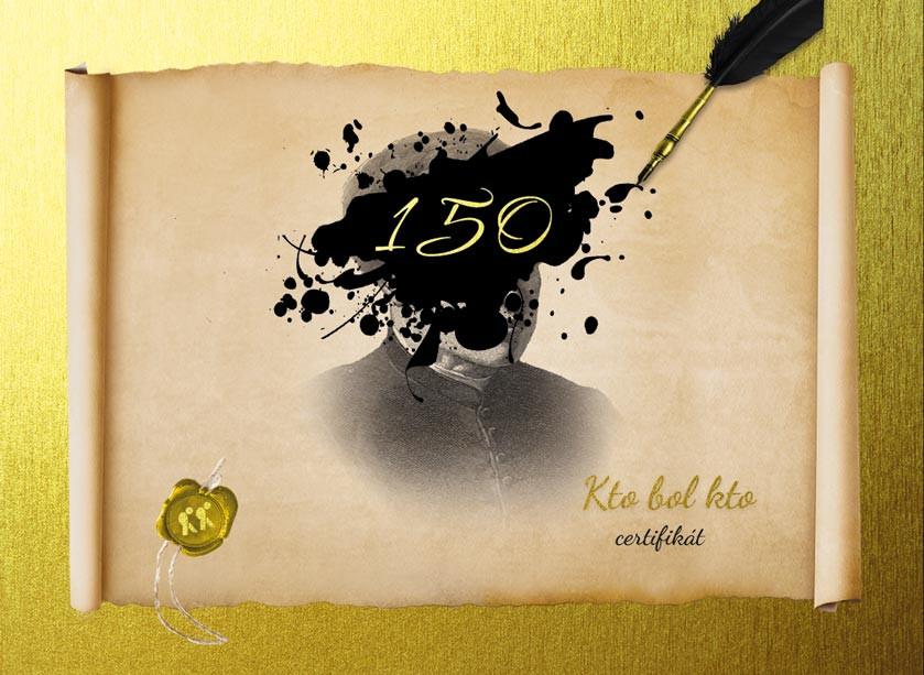 Certifikát - Kto bol kto 150