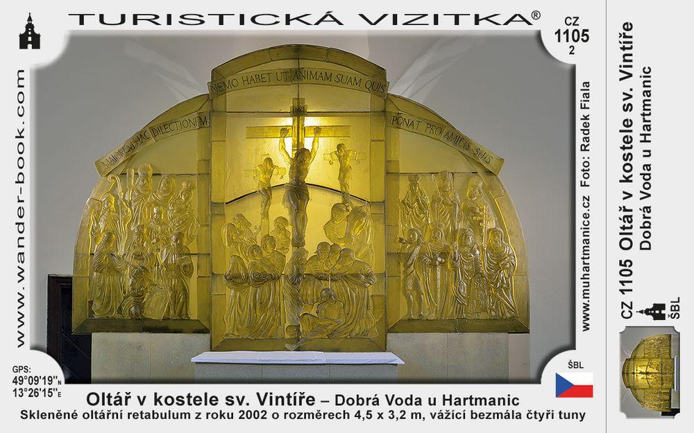 Oltář v kostele sv. Vintíře v Dobré Vodě u Hartmanic