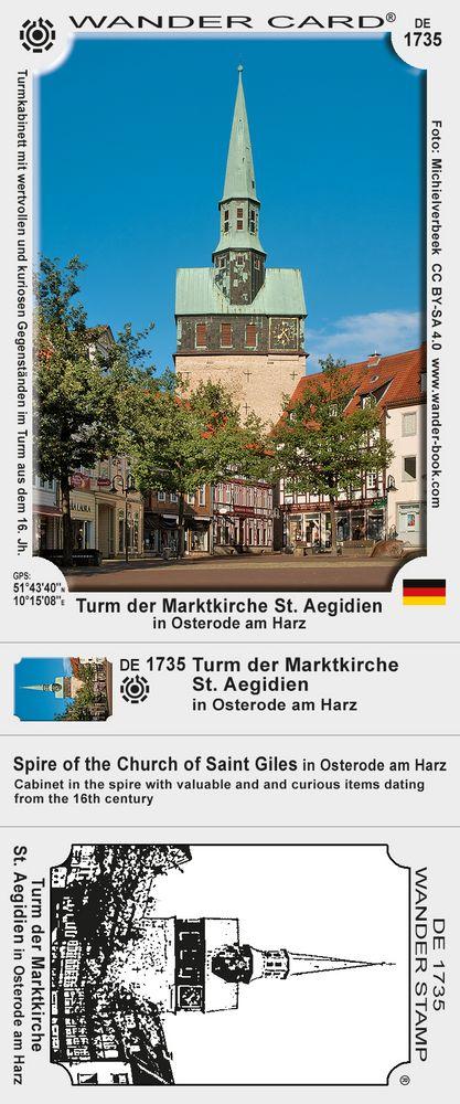 Turm der Marktkirche St. Aegidien in Osterode am Harz