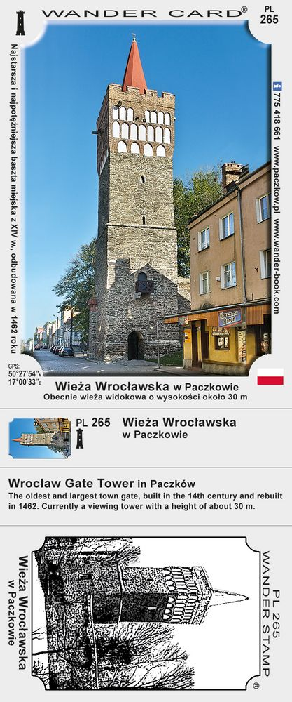 Paczków wieża wrocławska