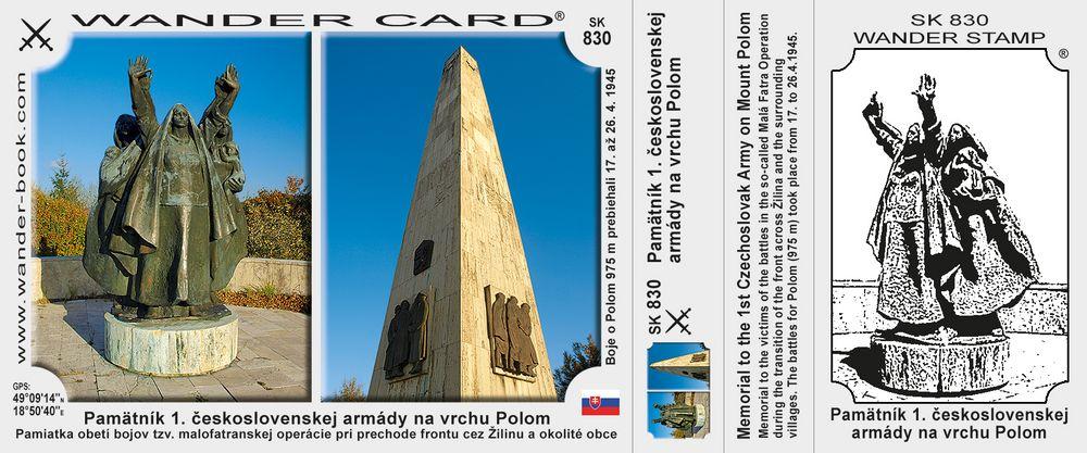 Pamätník 1. československej armády na vrchu Polom