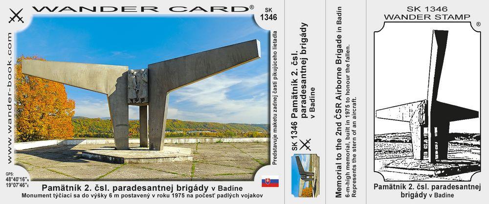 Pamätník 2. čsl. paradesantnej brigády v Badíne