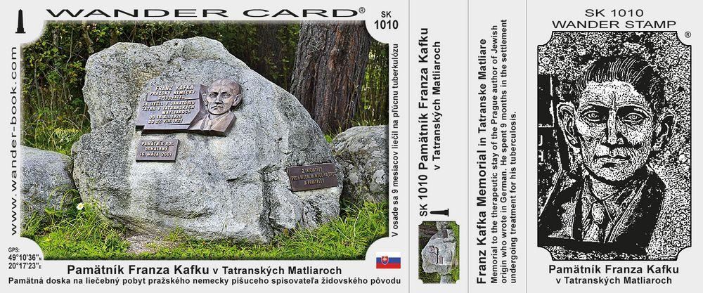 Pamätník Franza Kafku v Tatranských Matliaroch