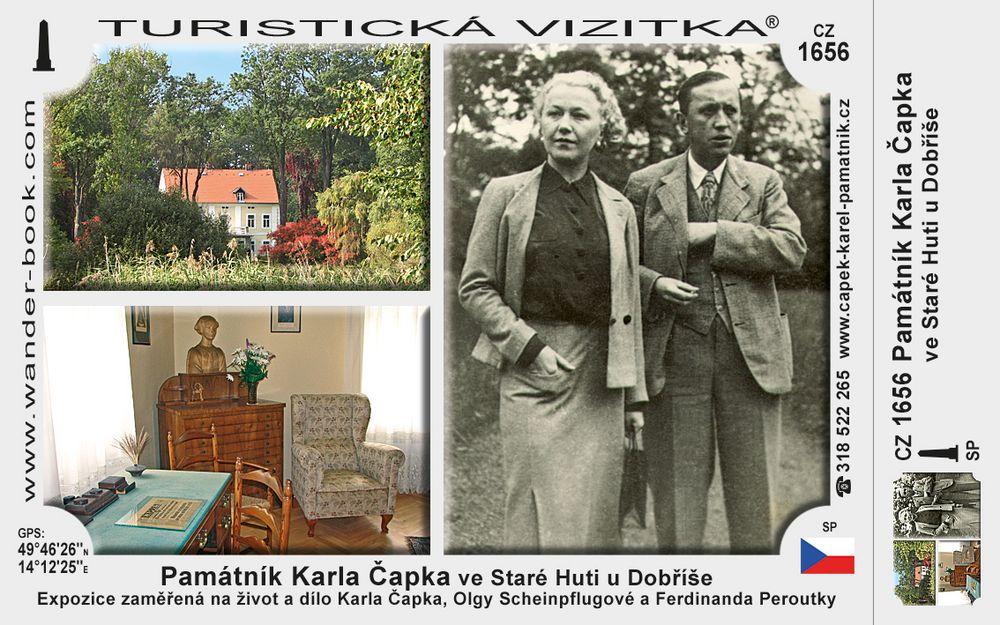 Památník K. Čapka ve Star. Huti u Dobříše