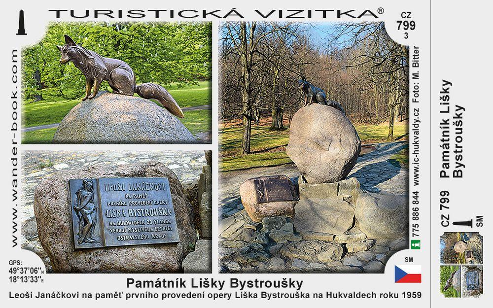 Památník Lišky Bystroušky v Hukvaldech