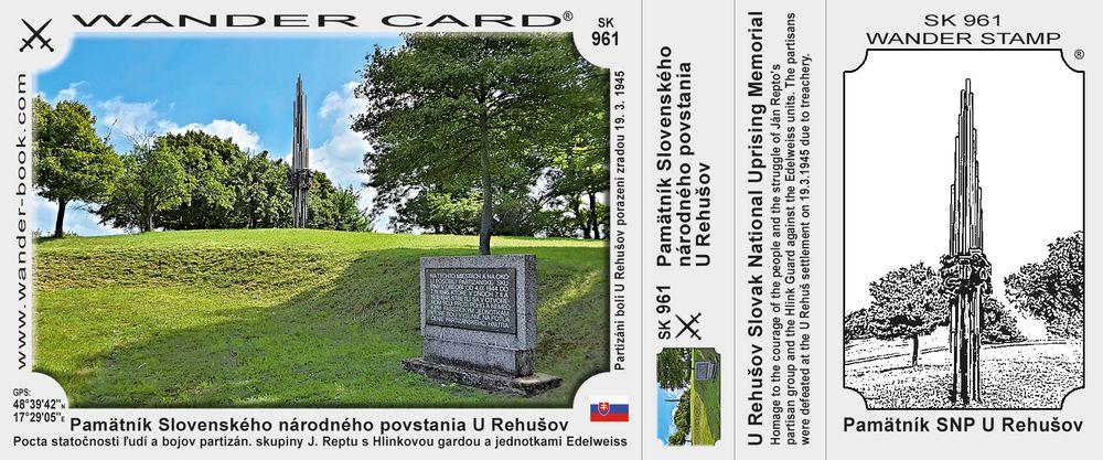 Pamätník Slovenského národného povstania U Rehušov