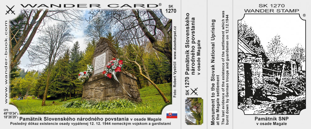 Pamätník Slovenského národného povstania v osade Magale