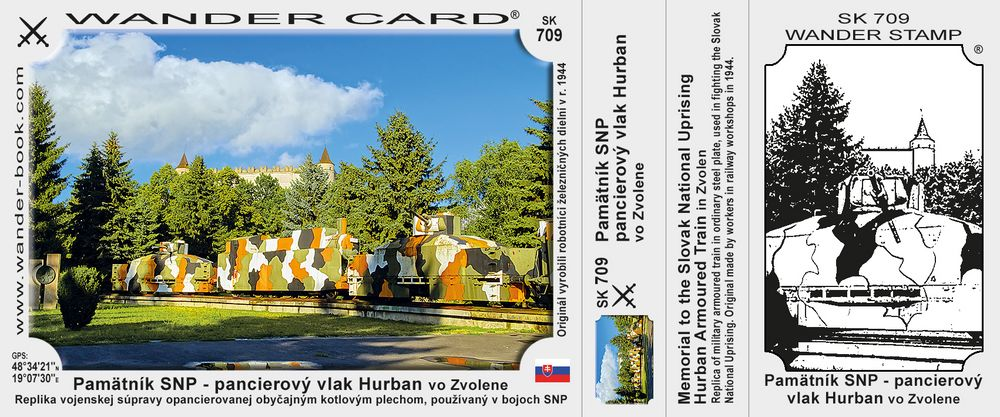 Pamätník SNP - pancierový vlak Hurban vo Zvolene