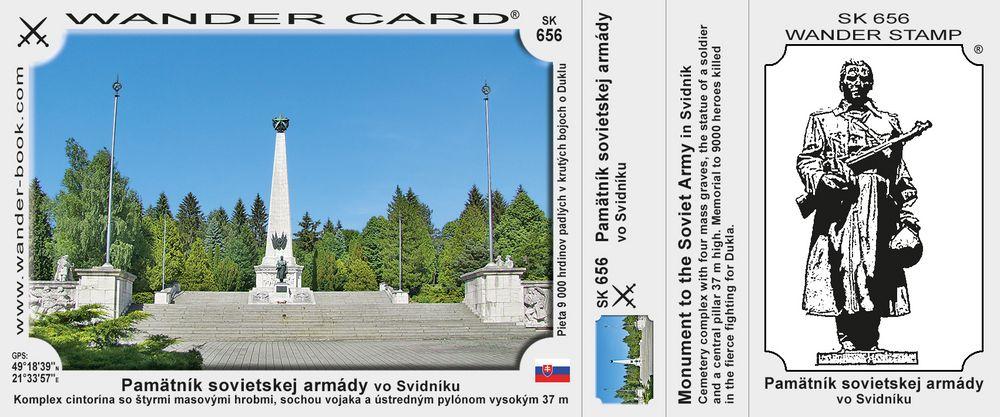Pamätník sovietskej armády vo Svidníku