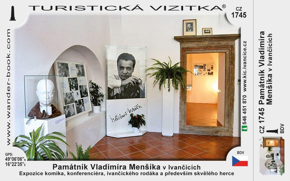 Památník Vladimíra Menšíka v Ivančicích