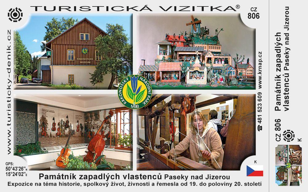 Památník zapadlých vlastenců Paseky n/J