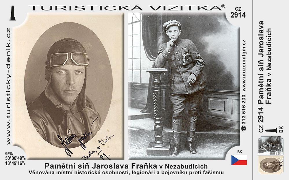 Pamětní síň J. Fraňka v Nezabudicích