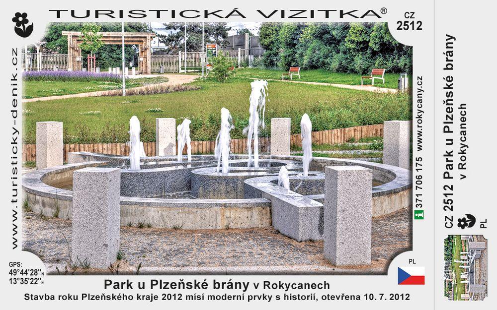 Park u Plzeňské brány v Rokycanech