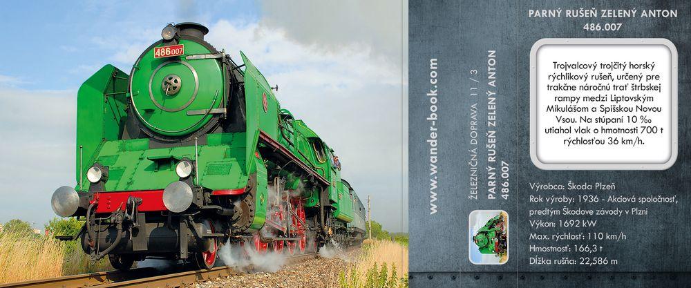 Parný rušeň Zelený Anton 486.007
