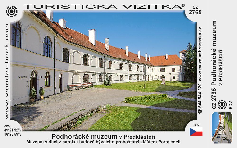 Podhorácké muzeum v Předklášteří