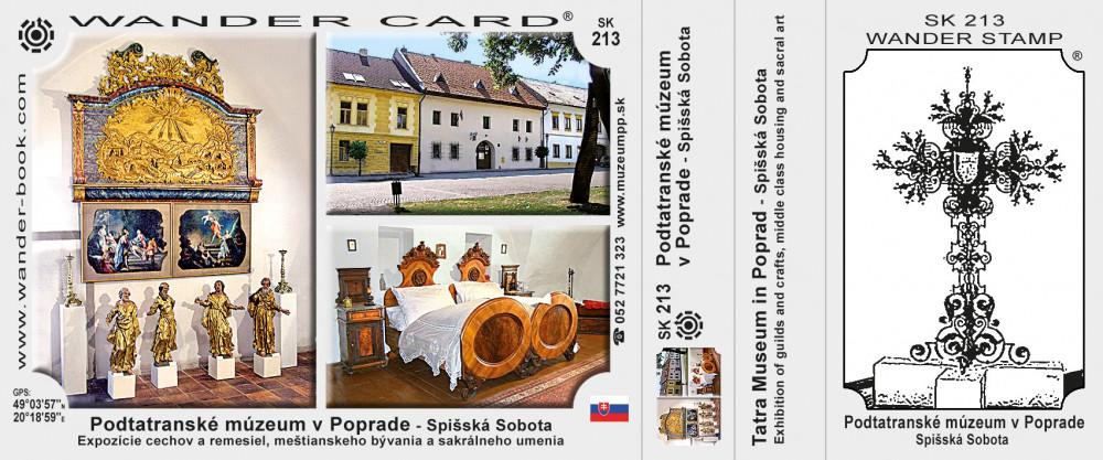 Podtatranské múzeum v Poprade - Spišská Sobota