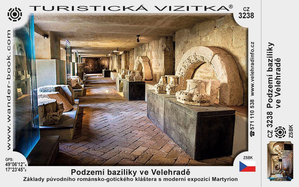 Podzemí baziliky ve Velehradě