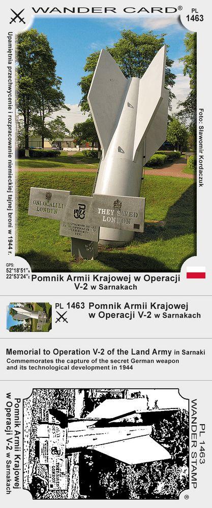 Pomnik AK w Operacji V-2 w Sarnakach