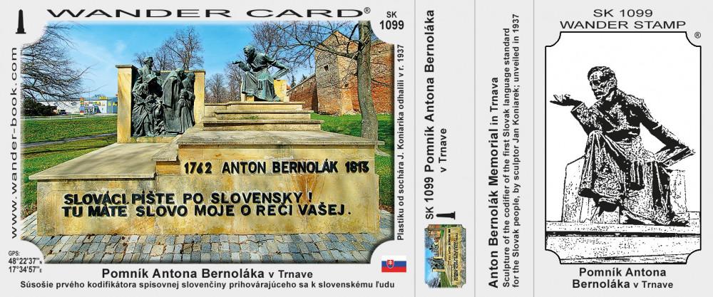 Pomník Antona Bernoláka v Trnave
