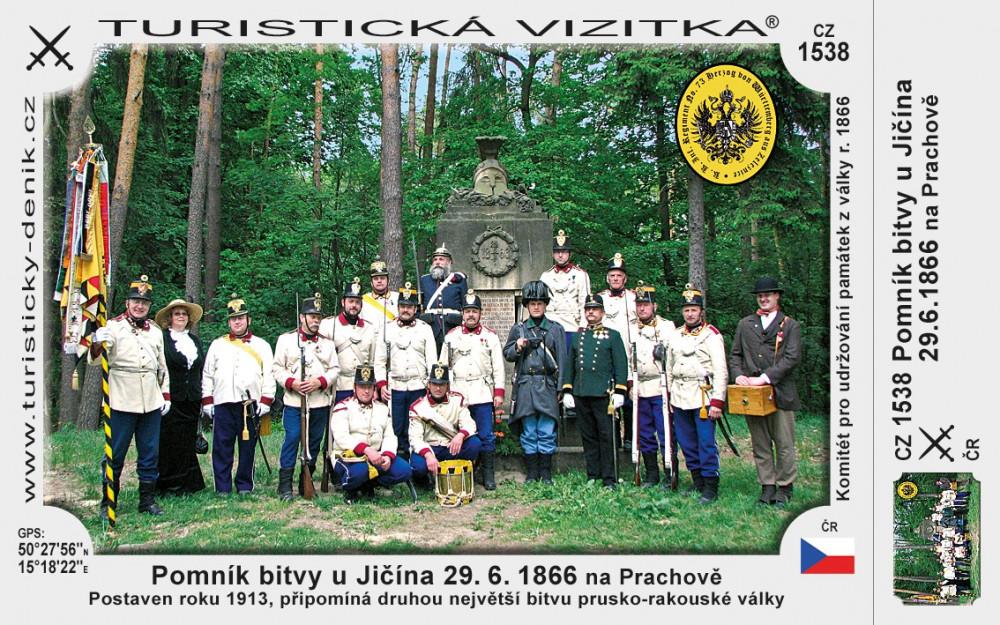 Pomník bitvy u Jičína 29.6.1866 - Prachov