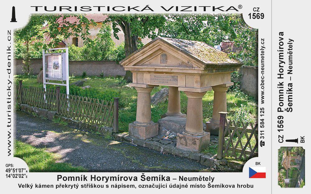 Pomník Horymírova Šemíka v Neumětelích