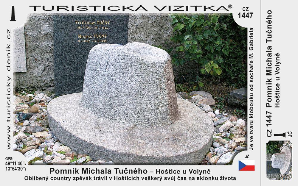 Pomník Michala Tučného v Hošticích u Volyně