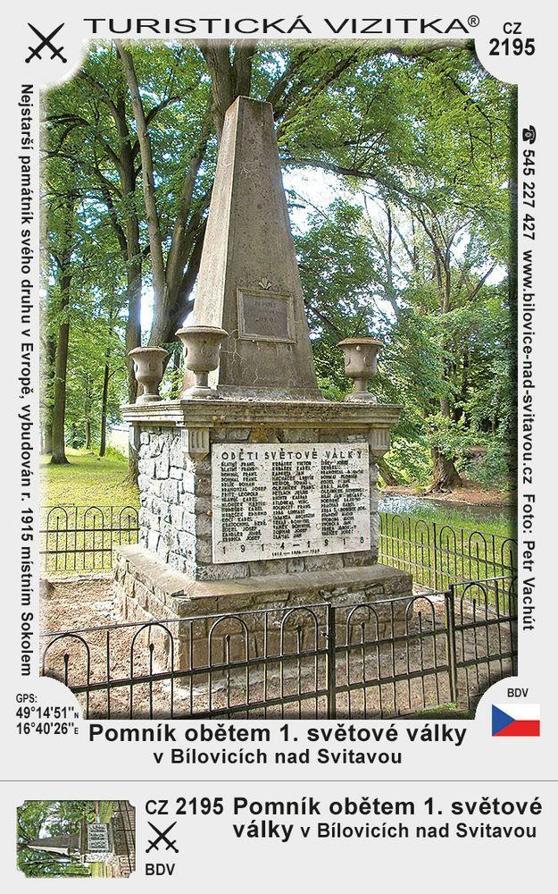 Pomník obět. 1 sv.války v Bílovicích n. Sv.