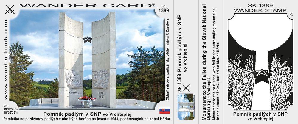 Pomník padlým v SNP vo Vrchteplej