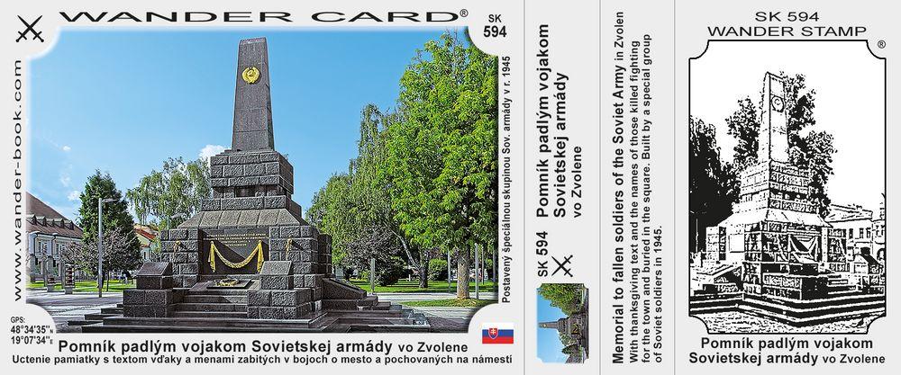 Pomník padlým vojakom Sovietskej armády vo Zvolene