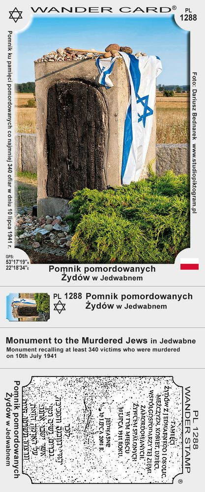 Pomnik pomordowanych Żydów w Jedwabnem