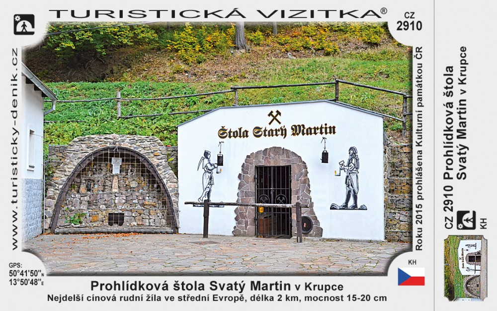 Prohlídková štola Starý Martin v Krupce