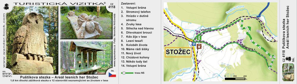 Puštíkova stezka - Areál lesních her Stožec