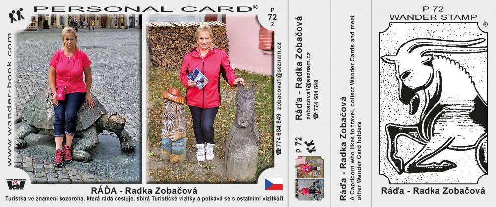 Ráďa - Radka Zobačová