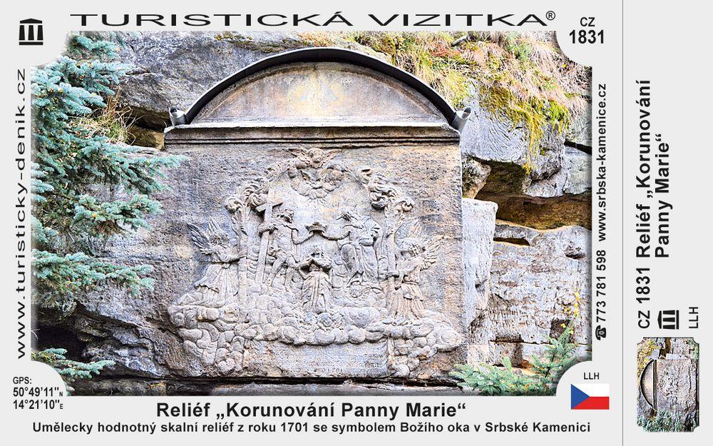 """Reliéf """"Korunování Panny Marie"""""""