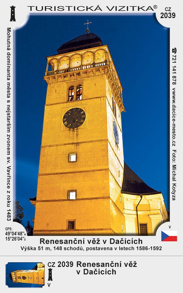 Renesanční věž v Dačicích