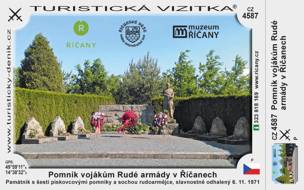 Říčany památník vojáků