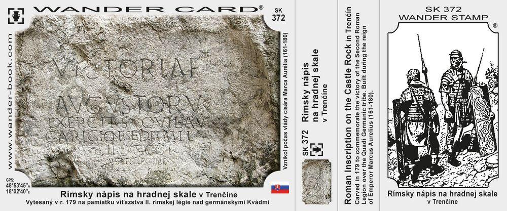Rímsky nápis na hradnej skale v Trenčíne