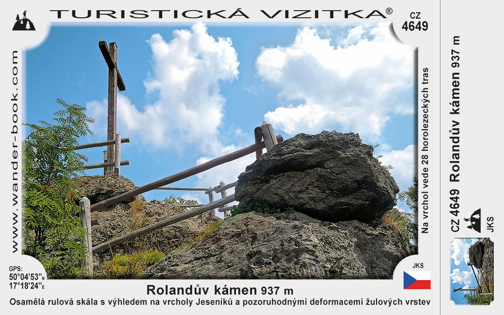 Rolandův kámen vyhlídka