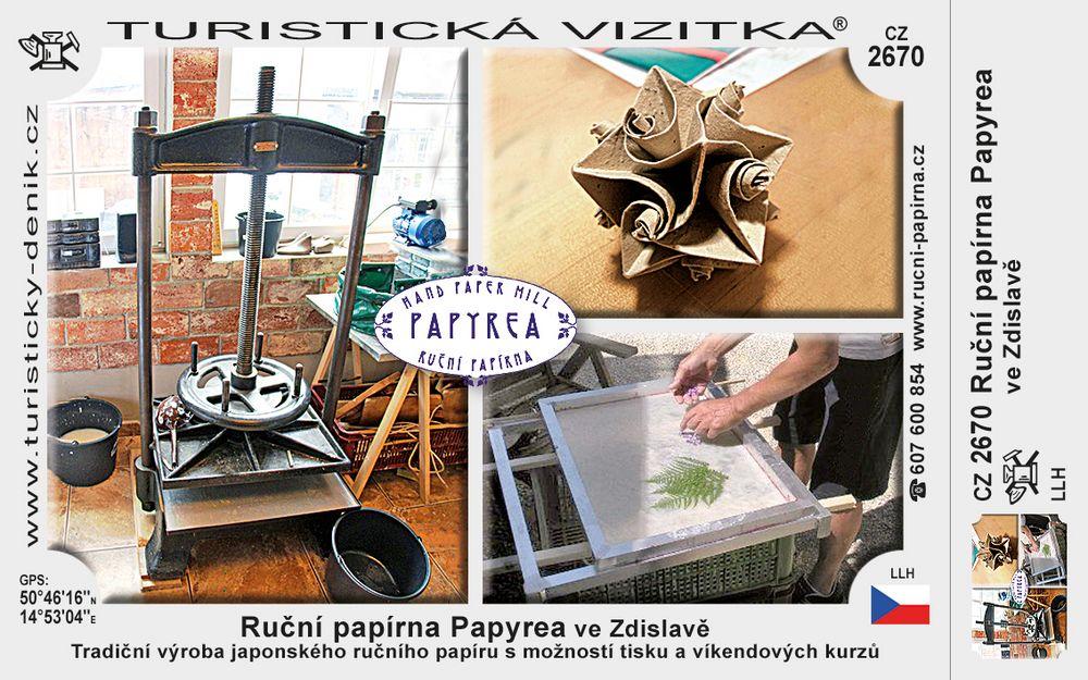 Ruční papírna Papyrea ve Zdislavě