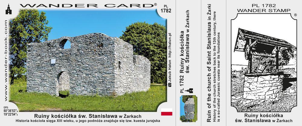 Ruiny kościółka św. Stanisława w Żarkach