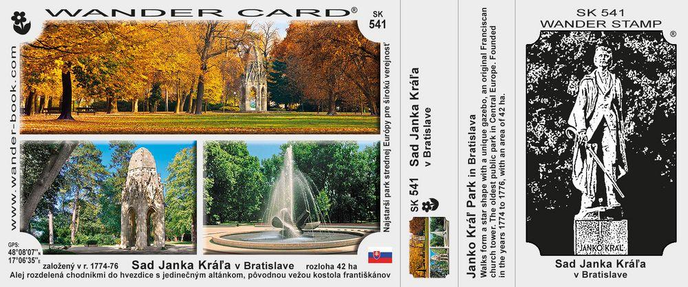 Sad Janka Kráľa v Bratislave
